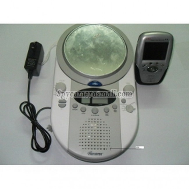 spy cam - Waterproof CD/AM/FM Radio Play With a mirror Hidden 2.4Ghz Wireless Camera with Receiver