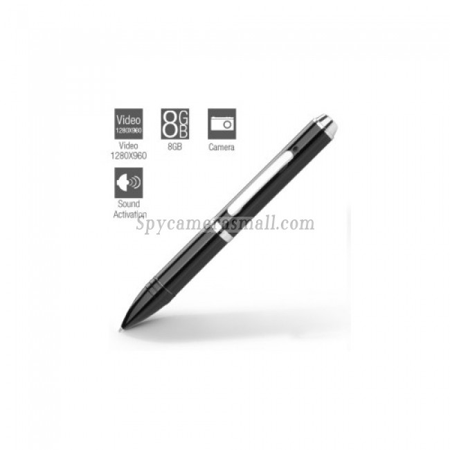 hidden Spy Pen Cameras - 8GB Voice Activated Spy Pen Camera