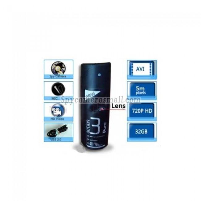 spy cameras for bathrooms - 1280X720 Black Men's Fragrance Hidden HD Bathroom Spy Camera DVR 32GB