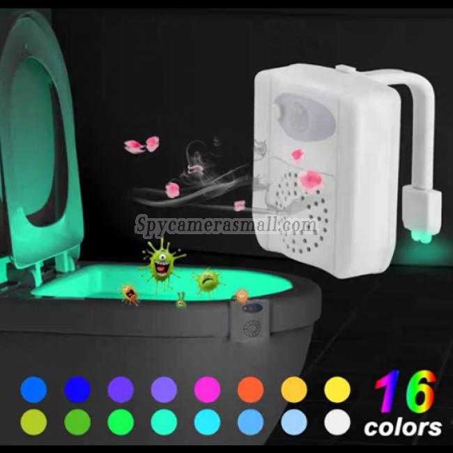 2021 16 Color Spy Toilet Light Camera  1080P HD Spy DVR Pinhole Spy Camera 32GB Internal Memory