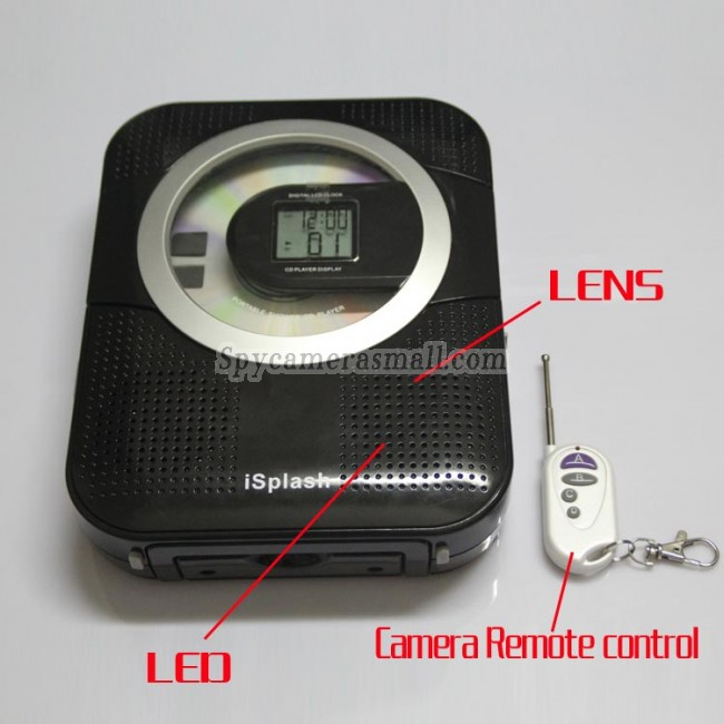 Clock Radio Camera CD + Radio Camera Hidden Bathroom Spy Camera 16GB 720P HD DVR