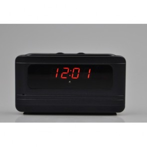 Motion Detection Clock Camera Recorder - 1280X720 Remote Control Portable Alarm Clock Spy Camera DVR with Motion Detection Support TF Card UP to 16GB
