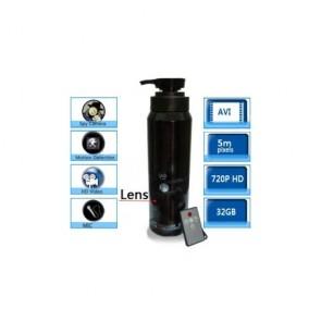 Bathroom Spy Cam Shampoo Shower Gel Camera - 32GB HD Bathroom MEN'S Shampoo Spy Camera Motion Detection Spy Camera 720P DVR Remote Control