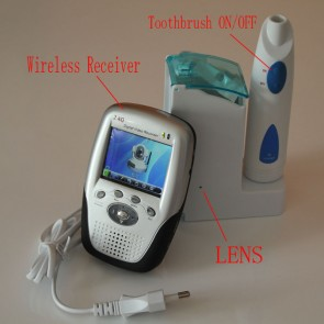 Toothbrush Spy Camera with Wirless Toothbrush Camera Spy  Bathroom HD Wireless Spy Camera Recorder- every day run of the mill Toothbrush, but features a hidden spy camera that can record video in total secrecy,It comes with a wireless receiver Globle Free